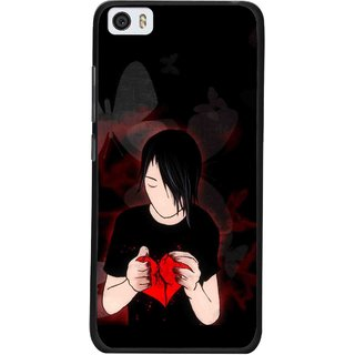Snooky Printed Broken Heart Mobile Back Cover For Xiaomi Mi5 - Multi