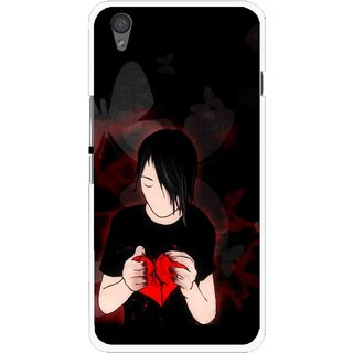 Snooky Printed Broken Heart Mobile Back Cover For One Plus X - Multi