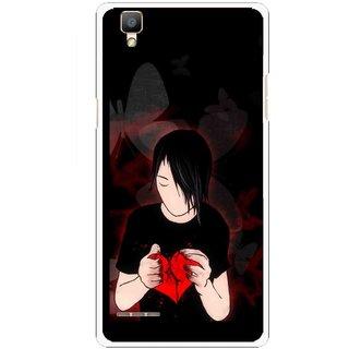 Snooky Printed Broken Heart Mobile Back Cover For Oppo F1 - Multi