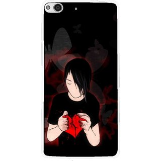 Snooky Printed Broken Heart Mobile Back Cover For Gionee Elife E6 - Multi