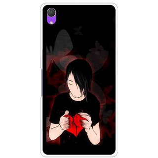 Snooky Printed Broken Heart Mobile Back Cover For Sony Xperia Z2 - Multi