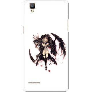 Snooky Printed Kungfu Girl Mobile Back Cover For Oppo F1 - Multi