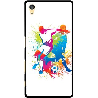Snooky Printed Footbal Mania Mobile Back Cover For Sony Xperia Z5 Plus - Multi