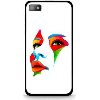 Snooky Printed Modern Girl Mobile Back Cover For Blackberry Z10 - Multi