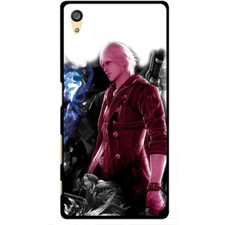 Snooky Printed Fighter Boy Mobile Back Cover For Sony Xperia Z5 Plus - Multi