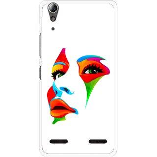 Snooky Printed Modern Girl Mobile Back Cover For Lenovo A6000 - Multi