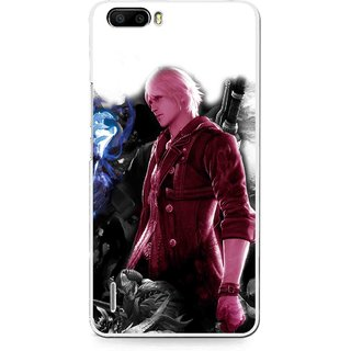 Snooky Printed Fighter Boy Mobile Back Cover For Huawei Honor 6 Plus - Multi