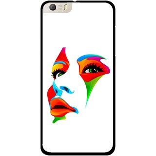 Snooky Printed Modern Girl Mobile Back Cover For Micromax Canvas Knight 2 E471 - Multi