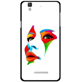 Snooky Printed Modern Girl Mobile Back Cover For Micromax Yu Yureka Plus - Multi