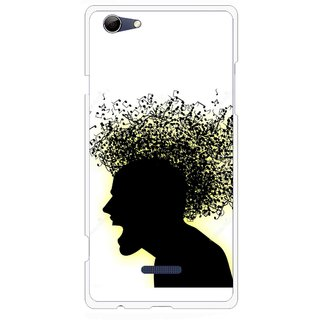 Snooky Printed Music Fond Mobile Back Cover For Micromax Canvas Selfie 3 Q348 - Multi