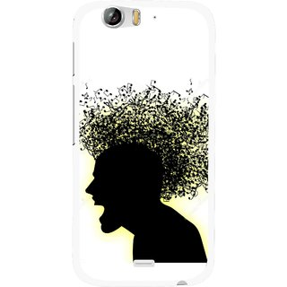 Snooky Printed Music Fond Mobile Back Cover For Micromax Canvas Turbo A250 - Multi