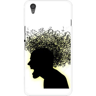 Snooky Printed Music Fond Mobile Back Cover For One Plus X - Multi