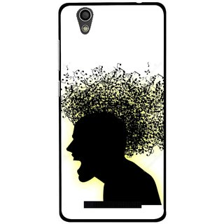 Snooky Printed Music Fond Mobile Back Cover For Gionee F103 - Multi