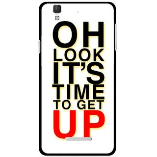 Snooky Printed Get Up Mobile Back Cover For Micromax Yu Yureka Plus - Multi