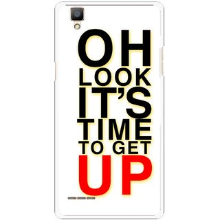 Snooky Printed Get Up Mobile Back Cover For Oppo F1 - Multi