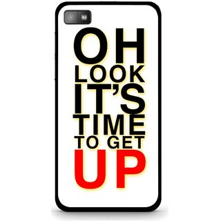 Snooky Printed Get Up Mobile Back Cover For Blackberry Z10 - Multi