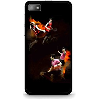 Snooky Printed Sports Player Mobile Back Cover For Blackberry Z10 - Multi