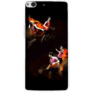 Snooky Printed Sports Player Mobile Back Cover For Gionee Elife E6 - Multi