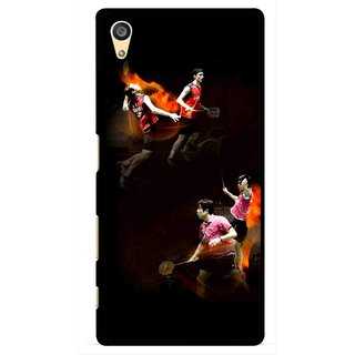 Snooky Printed Sports Player Mobile Back Cover For Sony Xperia Z5 Plus - Multi