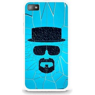 Snooky Printed Beard Man Mobile Back Cover For Blackberry Z10 - Multi