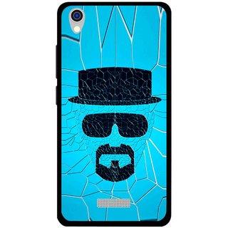 Snooky Printed Beard Man Mobile Back Cover For Lava Iris X9 - Multi