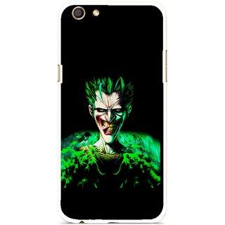 Snooky Printed Daring Joker Mobile Back Cover For Oppo F3 - Multi
