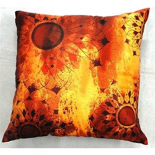 Welhouse India Sunflower 3D  Digital Cushion Covers - Pack of 1DGC-18-023