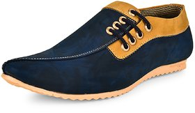 Essence Men's Blue Synthetic Slip-On Casual Sneaker