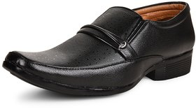 Essence Men's Black Synthetic Slip-On Formal Office Sho