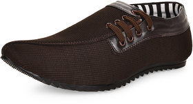 Essence Men's Brown Synthetic Slip-On Party Shoes