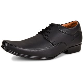 196cad4f689 Buy Essence Men s Black Synthetic Lace-Up Formal Office Shoes Online ...