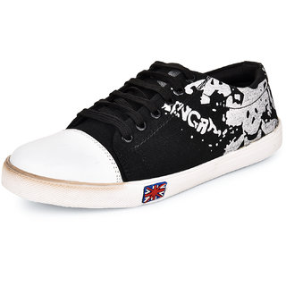 buy essence men's black canvas laceup casual sneaker