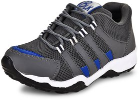 Essence Men's Grey Mesh Lace-Up Sports Running