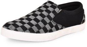 Essence Men's Black Canvas Slip-On Casual Sneaker