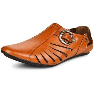 Essence Men's Brown Synthetic Slip-On Outdoor Sandals