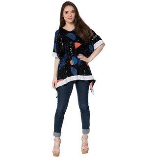 858ff539ac6402 Secret Bazaar s Party Wear Multicolor Colored Rayon Fabric Printed Women s  Top