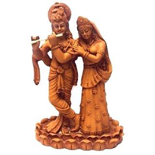 Wood Finish Radha Krishna 12