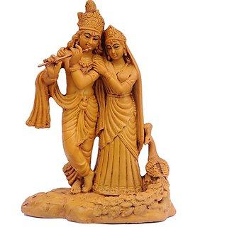Mayur Radha Krishna (Wood Finish)