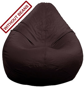 StyleCo  XL  size Modern CLassic Bean Bag- (Cover- Without Beans) - Dark Brown