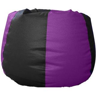UK Bean Bags Classic Bean Bag Cover Large Size ( L Size ) - Purple / Black
