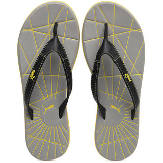 ae2743b9bd0 Buy Puma Men Grey Yellow Webster Flip Flops Online   ₹1199 from ...