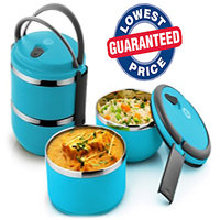 Branded Stainless Steel 3 Layer Lunch Box