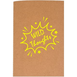 The Crazy Me Wild Thought Brown Thread Bound A6 Diary
