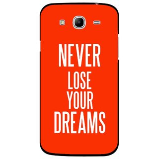 Snooky Printed Never Loose Mobile Back Cover For Samsung Galaxy Mega 5.8 - Orange