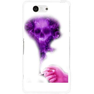 Snooky Printed Danger Mobile Back Cover For Sony Xperia Z3 Compact - White