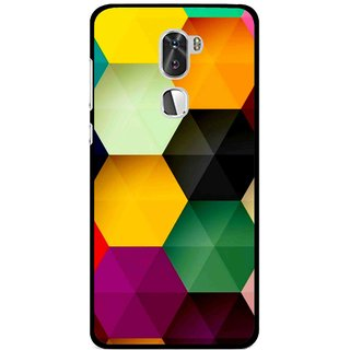 Snooky Printed Hexagon Mobile Back Cover For Coolpad Cool 1 - Multi