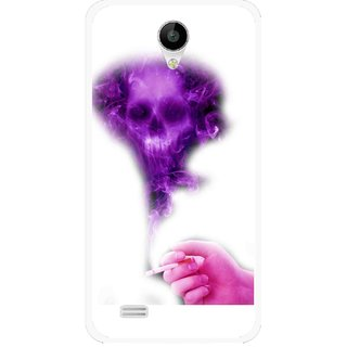 Snooky Printed Danger Mobile Back Cover For Vivo Y22 - White
