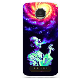 Snooky Printed Universe Mobile Back Cover For Moto Z Play - Multi