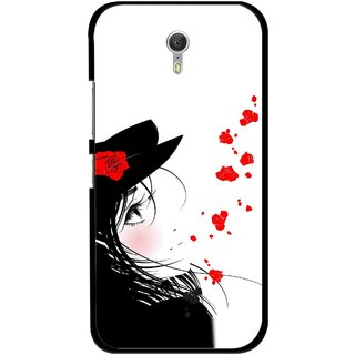 Snooky Printed Mistery Girl Mobile Back Cover For Lenovo Zuk Z1 - Multicolour