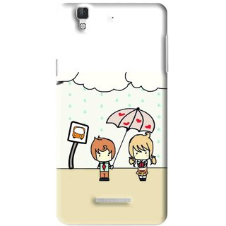 Snooky Printed Feelings in Love Mobile Back Cover For Micromax YU YUREKA - Multi